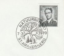 1970 BELGIUM COVER EVENT Pmk Illus TREE, NATURE CONSERVATION, ST AMANDSBERG , Stamps Trees - Trees
