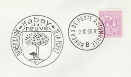 1966 BELGIUM COVER EVENT Pmk Illus TREE, BENEDICTION OF THE FOREST, THE NEW TREES, HABAY , Stamps Nature Conservation - Trees