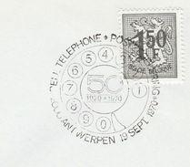 1970 BELGIUM COVER EVENT Pmk TELEPHONE Telecom Stamps - Telecom