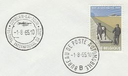1965 BELGIUM COVER EVENT Pmk JAZZ INTERNATIONAL FESTIVAL, TRUMPET Music Stamps Horse Ploughing Agriculture - Music
