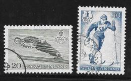 Finland, Scott # 354-5 Used Nordic Championships, 1958 - Finland