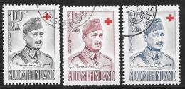 Finland, Scott # B114-6 Used Mannerhein, Red Cross, 1952 - Finland