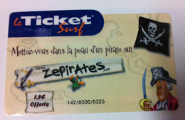 FRANCE TELECOM TICKET SURF ZE PIRATES CARTE INTERNET DATE D'EXPIRATION 31/12/2006 CARTE A CODE PHONECARD NO TELECARTE - Frankreich