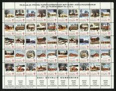 Sweden. Christmas Seal  Unfolded 1975/76 Mnh Full  Sheet. Farms In Sweden - Full Sheets & Multiples