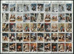 Sweden Christmas Seal 1980/81 Mnh Full Sheet  Folded. Artist Jenny Nystrom - Full Sheets & Multiples
