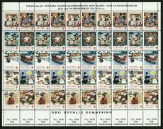 Sweden. Christmas Seal 1986/87 MNH Full Sheet Unfolded. Christmas Tricks - Full Sheets & Multiples