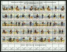Sweden. Christmas Seal 1987/88 Mnh Full Sheet Unfolded. Musicians. - Full Sheets & Multiples