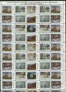 Sweden Christmas Seal 1989/90 MNH Full Sheet Folded. Paintings - Full Sheets & Multiples