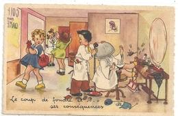 """CPA. STYLE """" GERMAINE BOURET """" - COIFFEUR POUR DAMES .  LE COUP DE FOUDRE ET SES CONSEQUENCES .. ... NON ECRITE - Bouret, Germaine"""