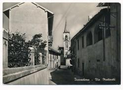 ITALY - TRAVEDONA ITALY - Via Matteotti, Stamp, Old Vintage  Postcard - Italia