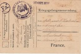 WW1 - Carte  Postale D Un Prisonnier De Guerre Du Camp De DARMSTADT -  L  2130 - Marcofilia (sobres)