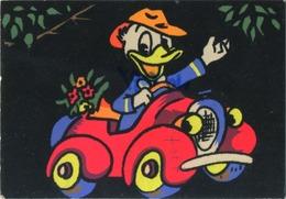 Donald Duck ( In Car , Format  15 X 10.5 Cm ) - Disney