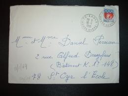 LETTRE TP BLASON PARIS 0,30 OBL.10-1-1969 SAULX (70 HAUTE SAONE) - Marcophilie (Lettres)