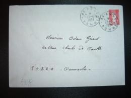 LETTRE TP MARIANNE DE BRIAT TVP ROUGE OBL.23-4-1994 AULT (80 SOMME) - Marcophilie (Lettres)