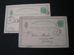 DK 2 Karten 1891 - Ganzsachen