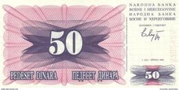 BOSNIA & HERZEGOVINA 50 DINARA 1992 P-12 UNC  [BA012] - Bosnia And Herzegovina