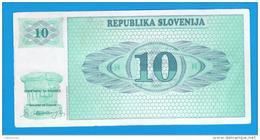 ESLOVENIA - 10 Tolar Circulado P-4 - Eslovenia