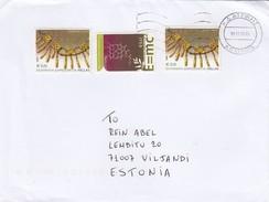 GOOD GREECE Postal Cover To ESTONIA 2016 - Good Stamped: Chemie ; Art - Greece