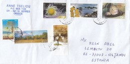 GOOD GREECE Postal Cover To ESTONIA 2016 - Good Stamped: Views ; Ship ; Sea Fauna - Greece