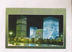 CPM ROCHESTER AT NIGHT En 1986! (voir Timbre) - Rochester
