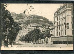 CPA - GRENOBLE - Le Cours St André Et Les Forts Rabot Et De La Bastille, Animé  (dos Non Divisé) - Grenoble