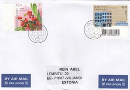 GOOD HONG KONG Postal Cover To ESTONIA 2017 - Good Stamped: Ninepin ; Blue House ; Berries - 1997-... Chinese Admnistrative Region