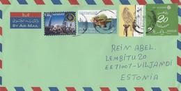 GOOD UAE Postal Cover To ESTONIA 2017 - Good Stamped: Bicycle Tour ; Sea Fauna ; Bird - United Arab Emirates