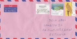 GOOD UAE Postal Cover To ESTONIA 2017 - Good Stamped: Bird ; Energy Forum ; Fish - United Arab Emirates
