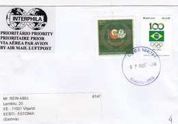 GOOD BRAZIL Postal Cover To ESTONIA 2016 - Good Stamped: Palmeiras ; Olympic - Brazil