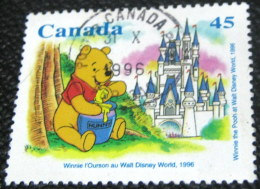 Canada 1996 Walt Disney World Stamp Collecting Month - Winnie The Pooh 45c - Used - 1952-.... Reign Of Elizabeth II