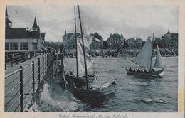 1922 SWINEMÜNDE - Seebrücke Mit Segelbooten, BAHNPOST (nach Luzern/Schweiz) - Pologne