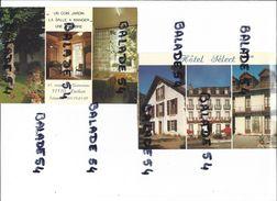 2 CPM - LUCHON (31) Hotel SELECT Cours Des Quinconces (carte Double Coupé Publicitaire) - Luchon