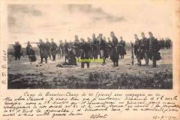 CPA CAMP DE BEVERLOO CHAMP TIR PLAINE AVEC COMPAGNIE AU TIR - Leopoldsburg (Kamp Van Beverloo)