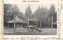 CPA CAMP DE BEVERLOO IMP. GOOSSENS MAHIEU PLACE DU PALAIS CANON D'ALARME - Leopoldsburg (Camp De Beverloo)