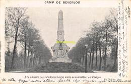 CPA CAMP DE BEVERLOO IMP. GOOSSENS MAHIEU A LA MEMOIRE DES VOLONTAIRES BELGES MORTS EN COMBATTANT AU MEXIQUE - Leopoldsburg (Kamp Van Beverloo)