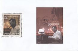 FDC Sur Soie /op Zijde - Georges Simenon - Enveloppe - BLOC N°103 - FDC