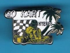 PIN'S //  ** GO KART ** HYERES  ** . (CC.) - Badges