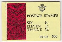New Zealand - Booklet - Postage Stamps : SIX 1/2C, ELEVEN 1C, TWELVE 3C - Boekjes
