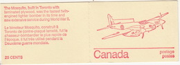 Canada - Booklet : 'Mosquito'  Word War II Fighter Bomber - 6 Stamps - Carnets Complets