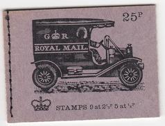 United Kingdom - Booklet : 'Veteran Transport No. 4 - Royal Mail' - Stamps: 9 At 2 1/2p, 5 At 1/2 P - Boekjes