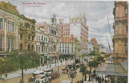RIO DE JANEIRO - Avenida Rio Branco, Postcard To France Anno 1921 - Rio De Janeiro