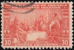 PHILIPPINES - Scott #392 Blood Compact 1565 (*) / Used Stamp - Filipinas