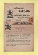 Perfore LF - 5c Semeuse - Memento Lefranc - 1924 - Marcophilie (Lettres)