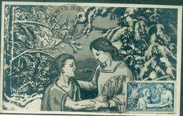FRANCE N°498 Carte Maximum SECOURS NATIONAL Ob PARIS 1941 TB. - Cartes-Maximum