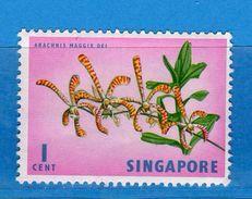 (MN1) SINGAPORE**-1962/68 - FLORA / FAUNA . Yvert  52A MNH .   Vedi Descrizione - Malesia (1964-...)