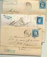 3 Lettres D'Ardèche Dont 2 Ob. D'Aubenas Différentes - 1849-1876: Klassik