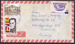 JZ94   Perù 198 - Airmail Cover Sent To Eggenburg Austria - Peru