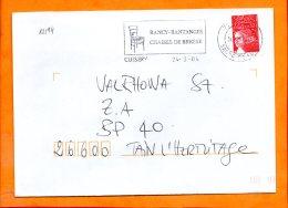 SAONE ET LOIRE, Cuisery, Flamme SCOTEM N° 12194 - Marcophilie (Lettres)