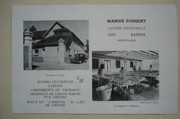 37 LUZE Publicité LAITERIE MARIUS FOUQUET 1950 Indre Et Loire - Publicidad