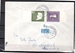 1956 SIEGSDORF Heinrich Reine & Mozart + Notopfer ALLE RANDSTÜCK(k155) - BRD